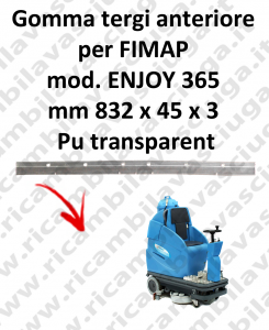 ENJOY 365 Front Squeegee rubber for FIMAP