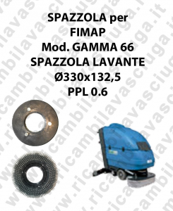 STANDARD BRUSH  for scrubber dryer FIMAP model GAMMA 66 ⌀ 330 x 132.5 PPL 0.6