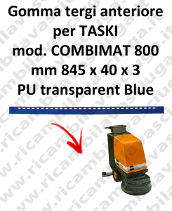 COMBIMAT 800 squeegee rubber scrubber dryer front for TASKI