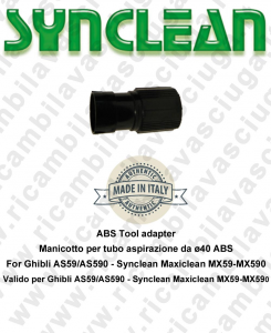 Manicotto for Vacuum hose from ⌀40 ABS Valid for Ghibli AS59 - AS590 - Synclean MX59 - MX590