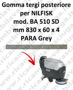 BA 510 SD squeegee rubber back for scrubber dryer Nilfisk