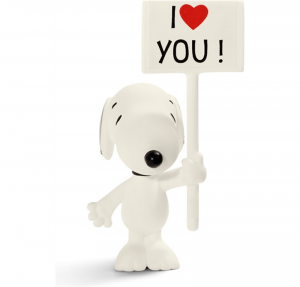 SCHLEICH PEANUTS SNOOPY I LOVE YOU 22006
