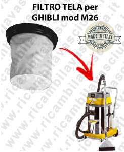 Canvas filter for vacuum cleaner GHIBLI model M26