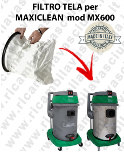 NYLON filter bag cod: 3001220 for vacuum cleaner MAXICLEAN model MX600