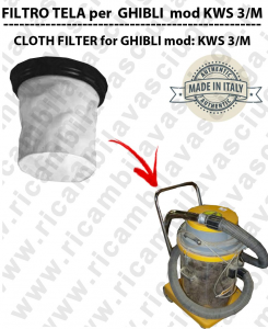 Canvas filter for vacuum cleaner GHIBLI model KWS 3/M