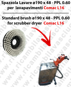 STANDARD BRUSH  for scrubber dryer COMAC model L16  ⌀ 190 x 48 - PPL 0.6