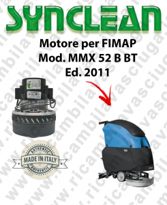 MMX 52 B-BT Ed. 2011 Vacuum motor SYNCLEAN scrubber dryer FIMAP