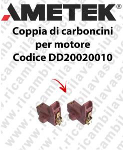Coupled carbon brush motor for Ametek Vacuum Motor Cod: DD20020010