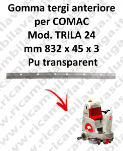 TRIPLA 24 B squeegee rubber front Comac