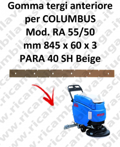 RA 55 squeegee rubber front for lavasciuga COLUMBUS