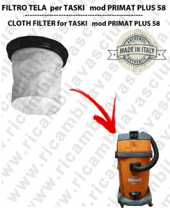 Canvas filter for vacuum cleaner TASKI model PRIMAT PLUS 58
