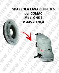 STANDARD BRUSH  in PPL 0,60 Dimensions ⌀ 445 X 120,4 3 pioli for scrubber dryer COMAC