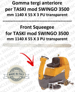 Squeegee rubber front for scrubber dryer TASKI model SWINGO 3500