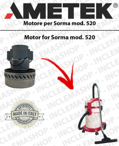 SORMA 520  Ametek Vacuum Motor  for vacuum cleaner