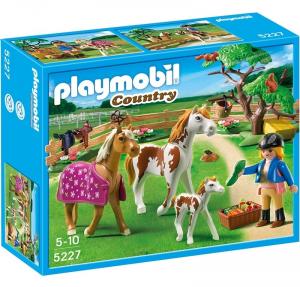 PLAYMOBIL RECINTO CON CAVALLI E PONY 5227