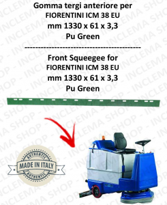 ICM 38 EU squeegee rubber front for scrubber dryer  FIORENTINI