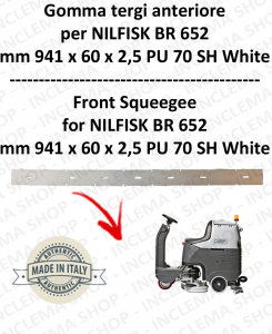 BR 652 squeegee rubber front for scrubber dryer  NILFISK