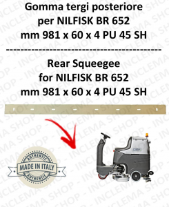 BR 652 squeegee rubber back for scrubber dryer  NILFISK