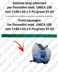 UNICA 100 squeegee rubber front for scrubber dryer  FIORENTINI