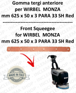 MONZA 385 B squeegee rubber front for scrubber dryer  WIRBEL