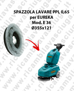 STANDARD BRUSH  in PPL 0,65 Dimensions ⌀ 355 x 121 for scrubber dryer EUREKA mod. E36