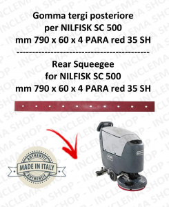 SC 500 squeegee rubber back for scrubber dryer NILFISK