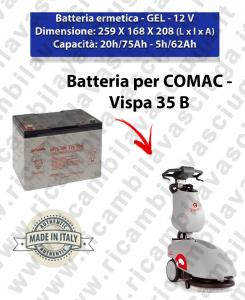 Battery GEL for VISPA 35 scrubber dryer COMAC
