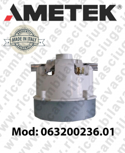 Vacuum motor 063200236 AMETEK ITALIA for vacuum cleaner and scrubber dryer
