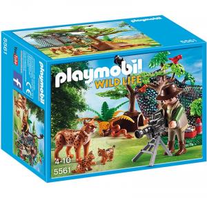 PLAYMOBIL CAMERAMEN CON FAMIGLIA DI LINCI 5561