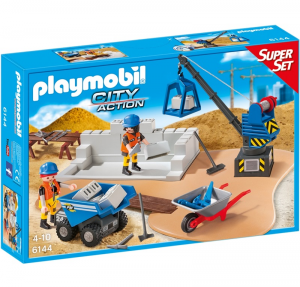 PLAYMOBIL SUPERSET CANTIERE EDILE cod. 6144