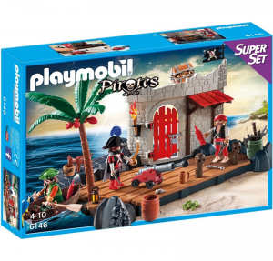 PLAYMOBIL SUPERSET COVO DEI PIRATI cod. 6146