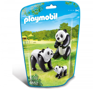 PLAYMOBIL FAMIGLIA DI PANDA cod. 6652