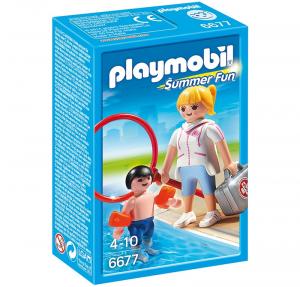 PLAYMOBIL BAGNINA CON BIMBO E BRACCIOLI 6677