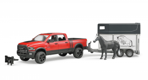 BRUDER RAM 2500 POWER WAGON CON RIMORCHIO E UN CAVALLO 2501