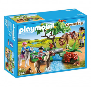 PLAYMOBIL GITA CON I PONY 6947