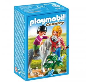 PLAYMOBIL PONY CON MAMMA E BAMBINA 6950