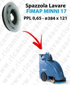 CEPILLO DE LAVADO  para fregadora FIMAP MINNY 17. modelo: PPL 0,65  ø 384 X 121