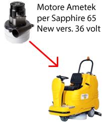 Sapphire 65 36 volt (NEW) Motore de aspiración Ametek para fregadora Adiatek