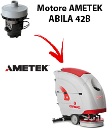 ABILA 42B Motore de aspiración Ametek para fregadora Comac