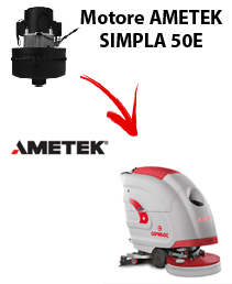 SIMPLA 50E Motores de aspiración Ametek para fregadora Comac