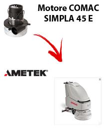 SIMPLA 45 y  Motores de aspiración Ametek para fregadora Comac