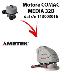 MEDIA 32B Motores de aspiración Ametek para fregadora Comac dal numero di serie 113003016
