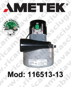 Motore de aspiración 116513-13 LAMB AMETEK para fregadora