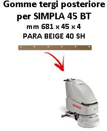 SIMPLA 45 BT goma de secado trasero Comac