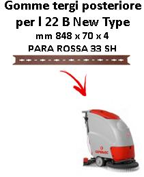 L 22 B New Type  gomas de secado trasera Comac