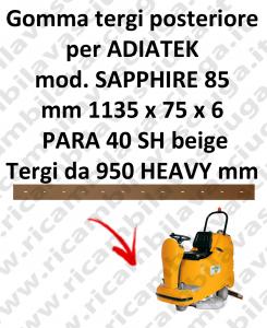 SAPPHIRE 85 goma de secado trasero para escobilla de goma ADIATEK (medir desde 950 mm)