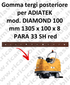 DIAMOND 100 goma de secado trasero para escobilla de goma ADIATEK