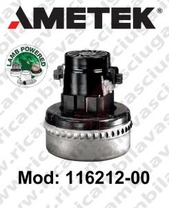 Motores de aspiración Lamb Ametek 116212-00 para fregadora y aspiradoras