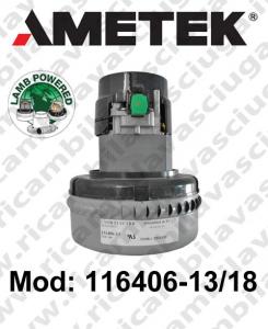 Motore de aspiración 116406-13/18 LAMB AMETEK para fregadora