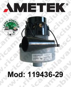 Motore de aspiración 119436-29 LAMB AMETEK para fregadora